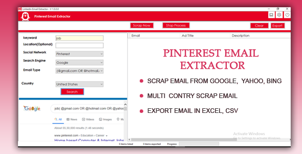 Pinterest Email Extractor