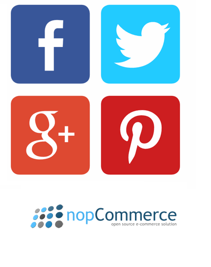 Social media share plugin for nopcommerce