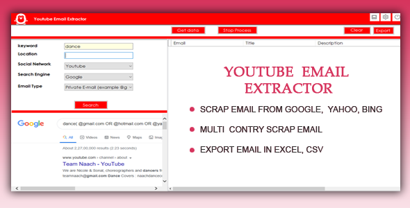 Youtube Email Scrapper